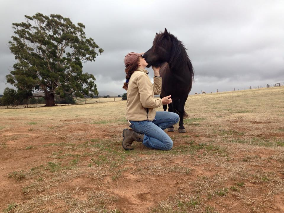 Laura Williams with one of her horses