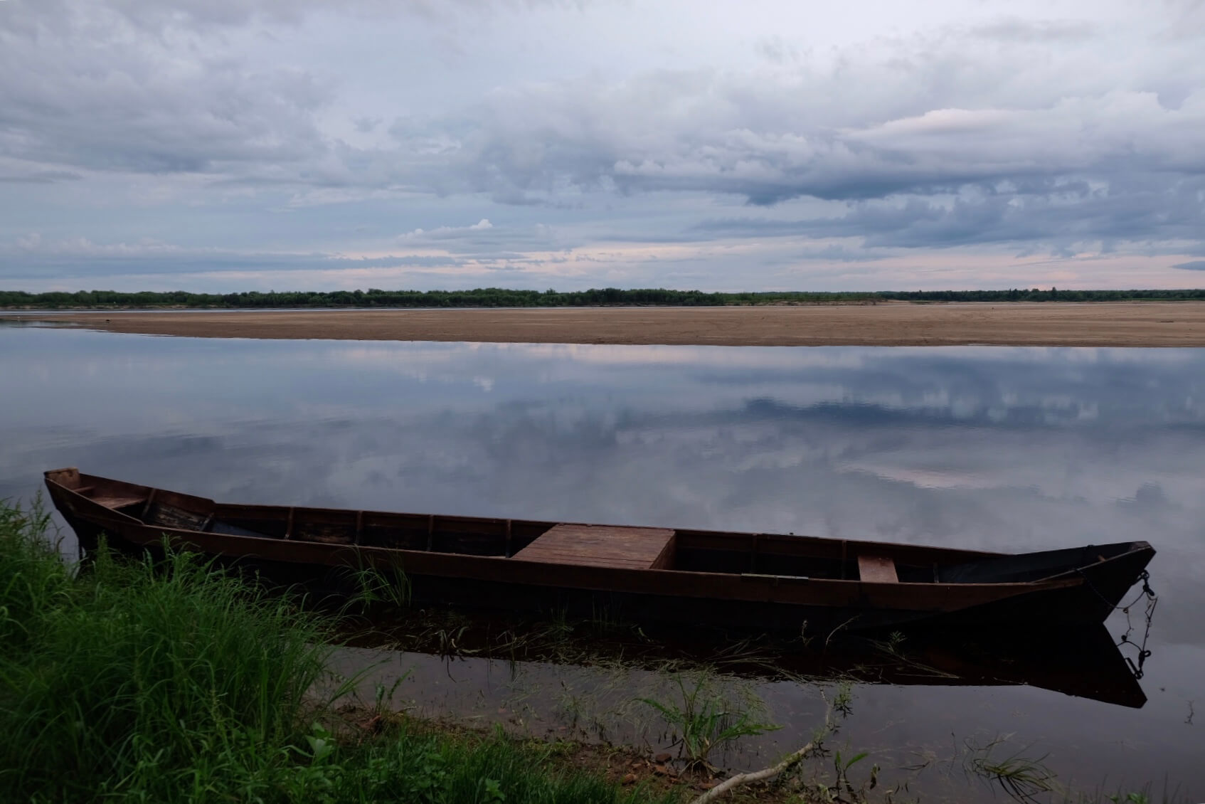 Traditional Russian village boat