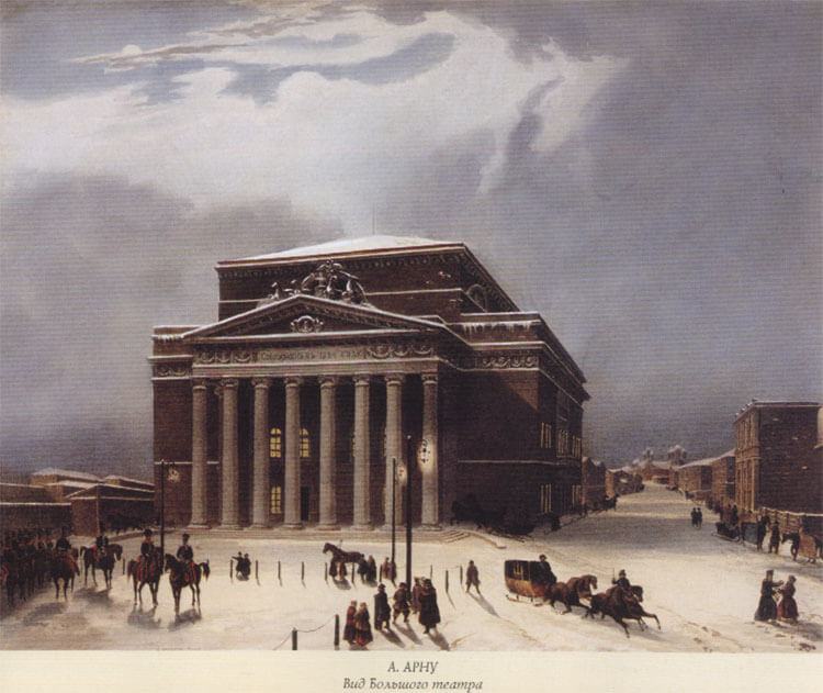 Bolshoi Theater in early 19th century