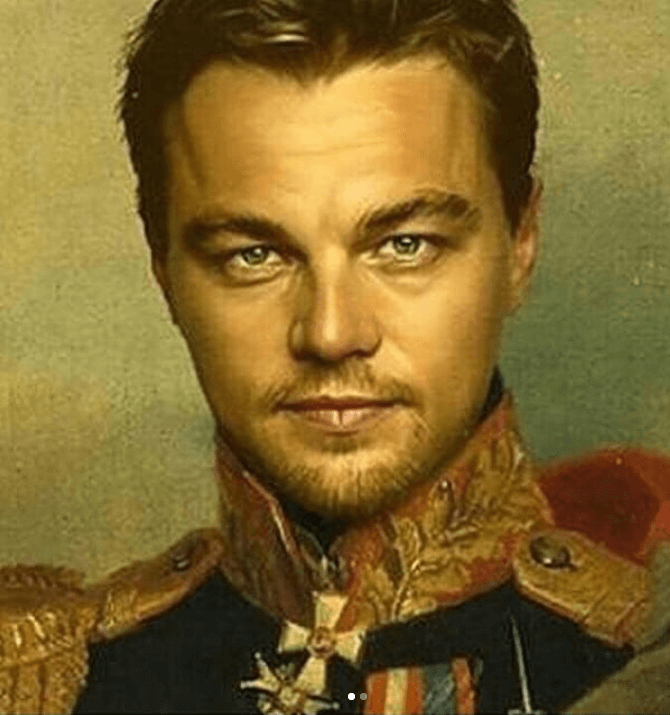 DiCaprio as a Russian imperial general