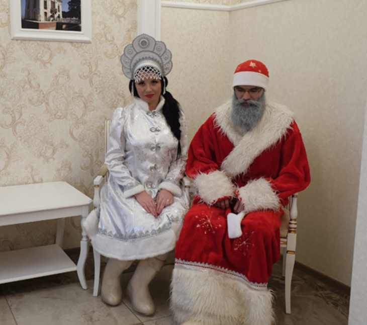 Ded Moroz and Snegorochka wedding