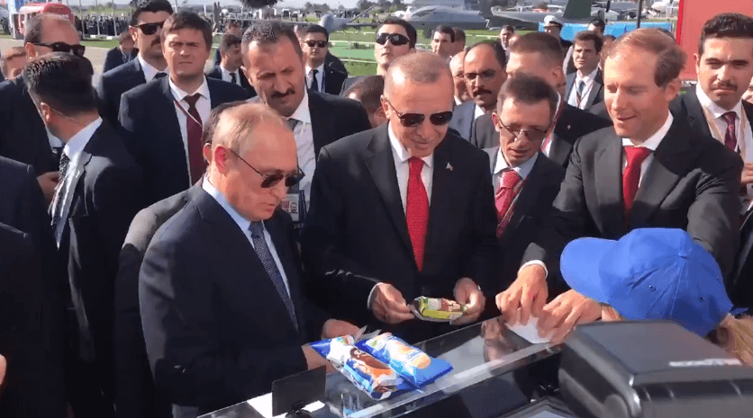 Putin buying Erdogan ice cream