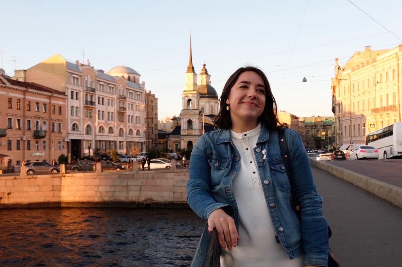 American student in St. Petersburg