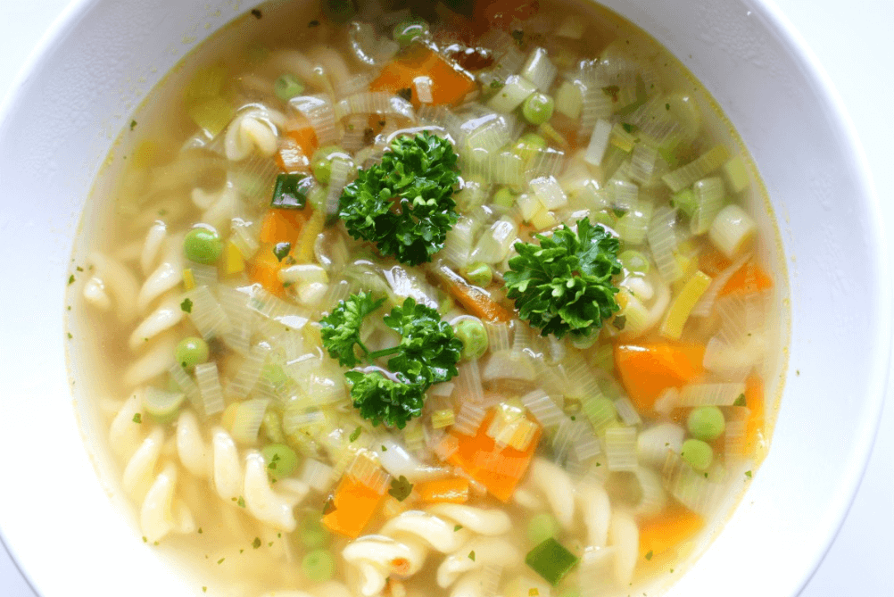 Russian chicken noodle soup